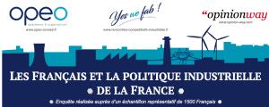 Télécharger l'infographie de l''étude « Les Français et la politique industrielle de la France » réalisée par OpinionWay pour OPEO.